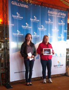 Årets vinnare i Onsdagsloppet: Åsa Nilsson-Springare och Ann-Louise Eriksson (Paula Lohiniva saknas på bilden)